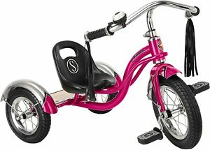 Schwinn Roadster Tricycle for Toddlers and Kids Classic Tricycle Bright Pink