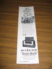 1954 Print Ad RCA Victor Strato-World 7 Band Portable Radios Model 3BX671