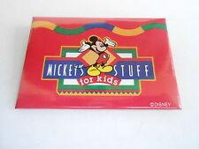VINTAGE PROMO PINBACK BUTTON #90-161 - DISNEY - MICKEY'S STUFF FOR KIDS