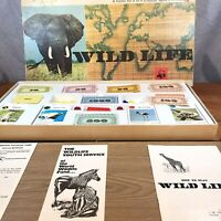 VINTAGE wildlife Board Game Spears Games *complete Box In Ok Condition*