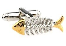 Bonefish Cufflinks Gold Silver Fish Waiter Wedding Fancy Gift Box Free Ship USA