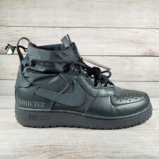 Nike Air Force 1 Gore-Tex Triple Black WTR GTX Winter CQ7211-003 Men's Size 10.5