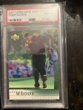 2001 Upper Deck Tiger Woods #1 Golf Card PSA 8