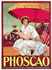 1900's French Phoscao Coffee Cafe Food & Wine Vintage Advertisement Poster Print