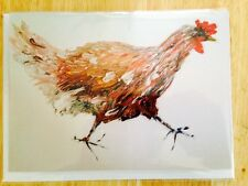 Greetings card 'A Wee Hen' from original oil painting by Sally-Anne Elliott.