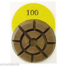 "3"" Dry Diamond Polishing Pad for Concrete - 100 Grit"