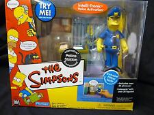 The Simpsons Police Station & Officer Eddie Interactive Box Set TV Springfield .