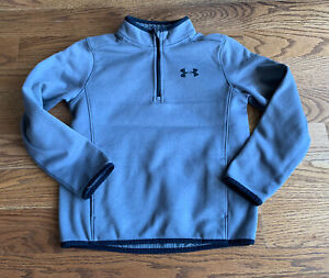 Under Armour Athletic Pullover Sweatshirt Jacket Boy's/Girl's Size S Gray Pocket