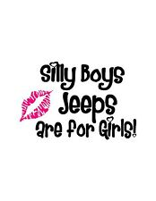 Silly Boys Jeep / TEXT  IS WHITE NOT BLACK