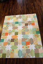 Handmade quilt - Hidden Stars Spring colors Moda Fabric