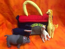 Pockets Of Learning -My Zoo-Animals-Plush Learning Toy VINTAGE-EXCELLENT