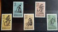 1967 Suriname Full Set Of 5 Stamps - Easter Charity  - MNH