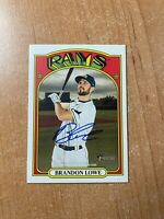 2021 Topps Heritage - Brandon Lowe - Real One On Card Auto RAYS