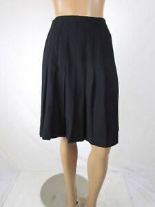 Vintage Spun Rayon Drop Pleated Skirt Size 6P Anne Klein Side Zip Fits Small
