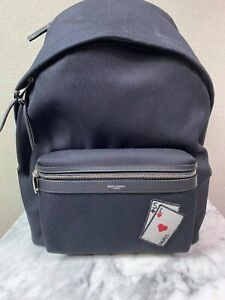 NWT YSL Saint Laurent Playing Cards City Black Backpack