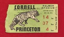 1950 Cornell vs Princeton Football Game Ticket Stub Antique Early Old Vintage