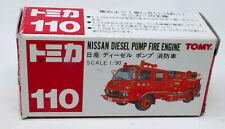 TOMICA TOMY #110 Nissan Diesel Pump Fire Engine Boxed