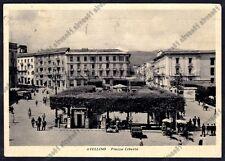 AVELLINO CITTÀ 32 DISTRIBUTORE POMPA BENZINA MOBILGAS Cartolina viaggiata 1955