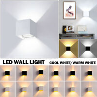 12W Modern LED Wall Light Up Down Cube Indoor Outdoor Sconce Lighting Lamp New