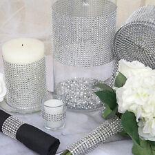 Wedding Bridal Bouquet Wrap Ribbon Silver 1 Roll Sparkle Diamond Mesh Wrap