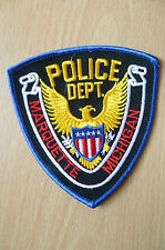Patches: MARQUETTE MICHIGAN POLICE PATCH (NEW,apx. 4.2x4)