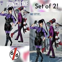 🔥🤡🗡 PUNCHLINE #1 GREG HORN SET OF 2 Exclusive Variants Cvr A + B Joker War NM
