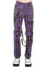 Tripp NYC Dark Street Purple Tartan Plaid Strap to Strap Pants Goth Punk Unisex