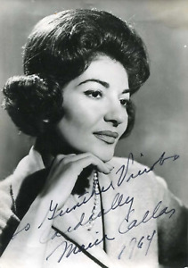 Maria Callas (+) SOPRANO OPERA autograph, signed vintage photograph