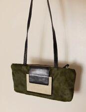 R&Y Augousti Green Pony Hair Clutch Shoulder Bag