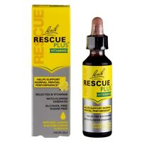 Bach Rescue PLUS Vitamins Drops 20ml - Expires 30 November 2019