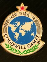 Collectible Vintage New York '98 Goodwill Games Colorful Metal Pinback Lapel Pin