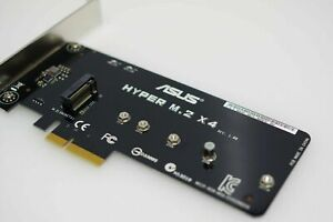 ASUS Hyper M.2 x4 PCIe adaptor, for use with NVMe SSD