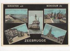 Groeten Uit Zeebrugge Belgium Vintage Postcard 328a ^