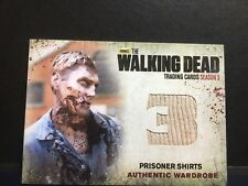 The Walking Dead Season 3 Authentic Wardrobe Prisoner Shirts M28 Trading Card