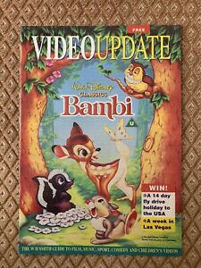 Video Update Magazine. Walt Disney Classic Bambi On Cover - Perfect Well Kept