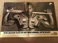 Vintage 1989 NIKE BO JACKSON THE BALLPLAYER Poster Print Ad 1980s AIR TRAINER SC