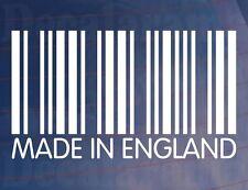 MADE IN ENGLAND Barcode Novelty Car/Van/Window/Bumper Vinyl Sticker/Decal