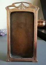 More details for c1900 art nouveau / jugendstil large, solid copper picture frame - attractive!
