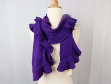 Collection XIIX Soft Acrylic Knit Ruffle Muffler Scarf Purple Magic #5732