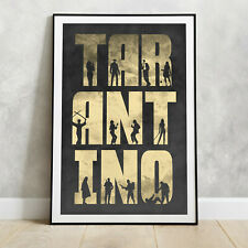 QUENTIN TARANTINO Movie Poster - Brad Pitt DiCaprio Print Pulp fiction gift for