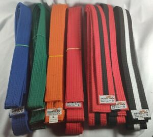 Tiger Claw Martial Arts Uniform Belts Lot x7  all Size 6 pre owned