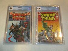 SWAMP THING 2 CGC 8.0 AND SWAMP THING 5 CGC 9.0 DC 1973