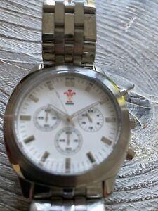 Unused Unboxed Wales WRU Stainless Steel Watch 42mm Case