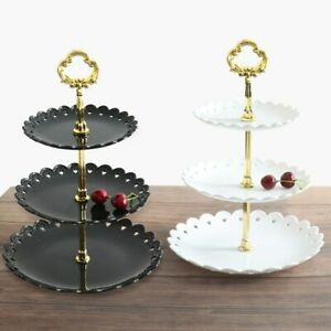 European Three-layer Cake Stand Wedding Party Dessert Table Candy Fruit Trays