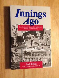 1985 1st ed KANSAS CITY BASEBALL Jack Etkin Interviews/photos/BUCK O'NEILL, more