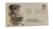Admiral Chester Con Nimitz Primera Day Of Edición 50c Sello & Sobre Se Envía
