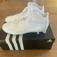 ADIDAS ADIZERO 5-STAR 5.0 MEN'S ADIDAS MID FOOTBALL CLEAT WHITE AQ8740 Sz 10