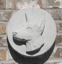 Concrete Doberman Pinscher Wall Hanger ,Plaque, Memorial, Grave Marker