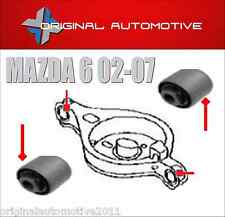 FITS MAZDA 6 02-07 REAR SUSPENSION SPRING PAN TRAILING ARM BUSHS X2