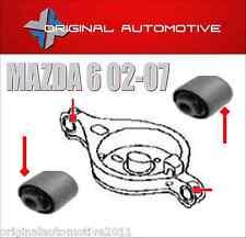 Si adatta Mazda 6 02-07 MOLLA SOSPENSIONE POSTERIORE braccio longitudinale PAN bushs x2
